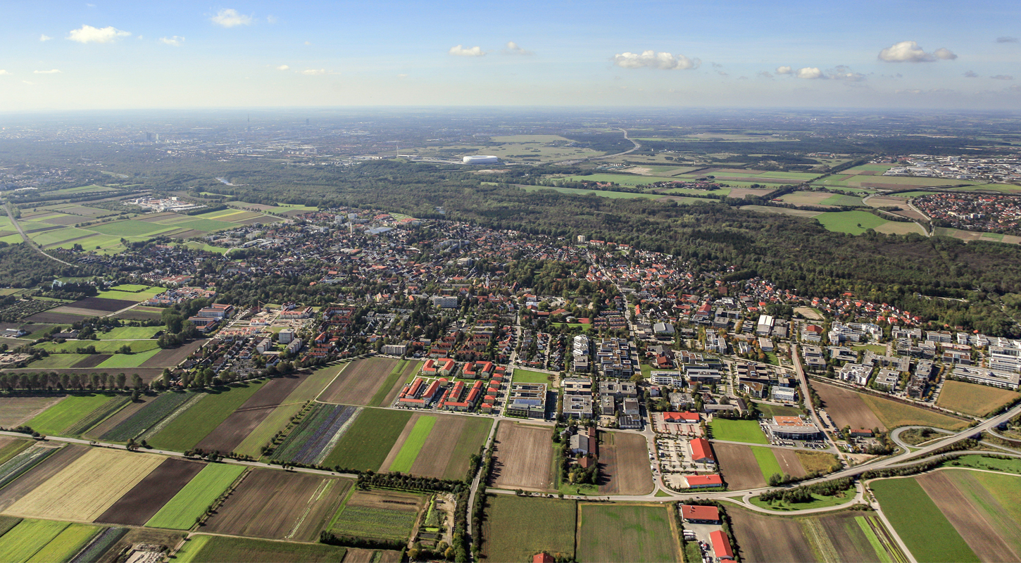 aerial picture of Ismaning